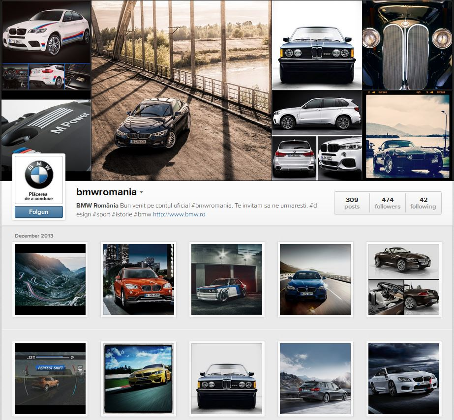 bmw romania How Romanians use Instagram & Foursquare? An infographic with #love, from Bucharest!